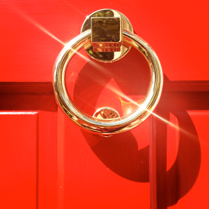 Red Door & Knocker